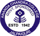Ananda Chandra College Department of Physical Education Logo