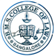B. M. S. College of Law Logo